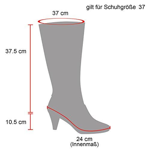 Stiefelparadies Damen Stiefel High Heels Flandell Schwarz