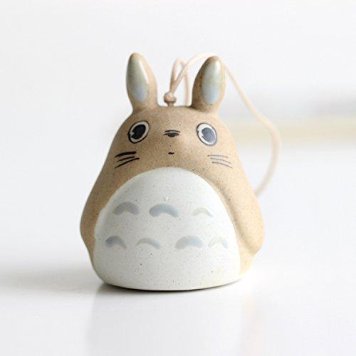 Cute Brown Totoro String Hanger Ceramic Bell Ornament Accessories