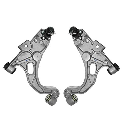 PartsW 2 Pc Lower Control Arms with Ball Joints and Bushings for BUICK LESABRE PARK AVENUE RIVIERA CADILLAC DEVILLE SEVILLE OLDSMOBILE AURORA PONTIAC -
