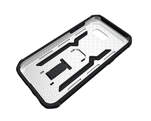 Funda Galaxy A5 2017 A520F,Saincat TPU Silicona con Diseño 3D Carcasa Case con Stand Holder Bumper Case con integrado Soporte Soporte Anti-Drop Shockproof Slim Funda caso Parachoques Silicona Transpar Blanco