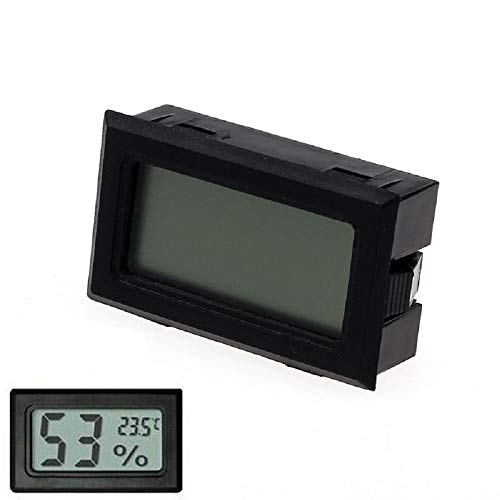 Orcbee  _Mini Digital LCD Temperature Humidity Meter Thermometer Hygrometer Indoor Black ()