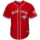 Roalze Toronto Blue Jays Men's 2016 Canada Day Red Replica Jersey