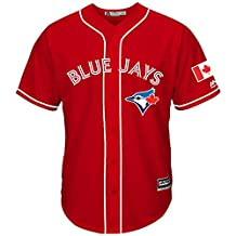 Roalze Toronto Blue Jays Men's 2016 Canada Day Red Replica Jersey