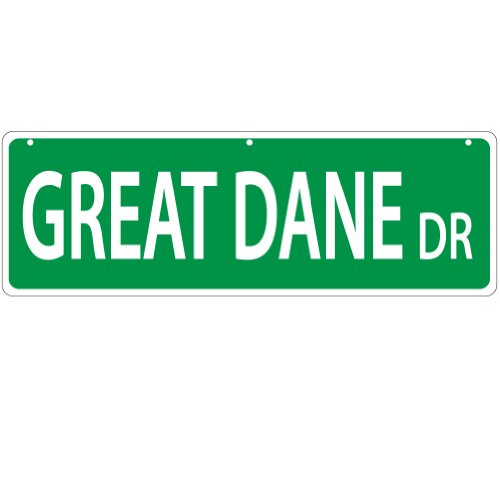 Great Dane DR Street SignThick, polyethylene plastic