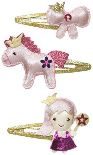 - Lily & Momo Princess Trio Snap Hair Clip, Shiny Pink, 3 Count