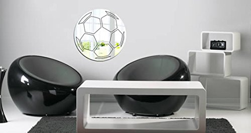 Soccer Ball Acrylic Resin Wall Mirror by Dezign with a Z