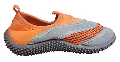 Toosbuy Athletic Water Shoes Aqua Pool Beach Socks Swim Shoes Toddler Little Kid Big Kid  Orange3132