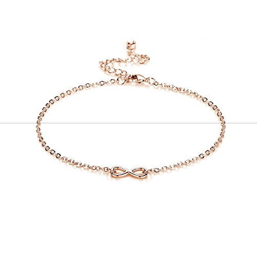 8cd77a3b2 Rose Gold Infinity Anklet with Crystals from Swarovski. by philip jones