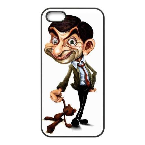Mr Bean FO43OW2 coque iPhone 5 5s cellulaire cas de téléphone coque O7UQ7X6TD