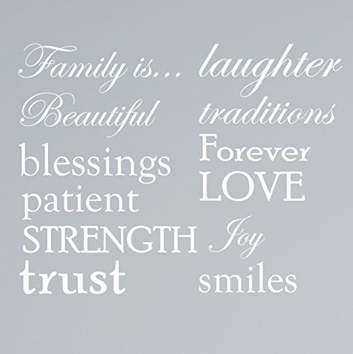 Cheap  Set of 12 Family Quote Words Vinyl Wall Sticker Picture Frame Wall..