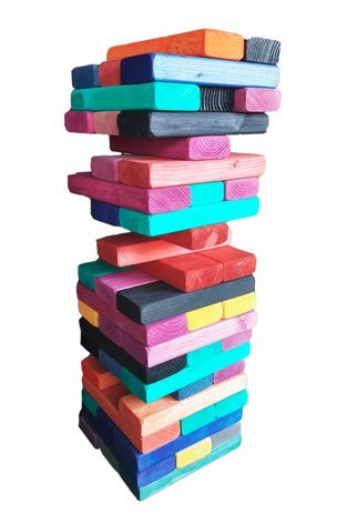 Giant RAINBOW Tumbling Towers Game Blocks up to +5FT & Inclu