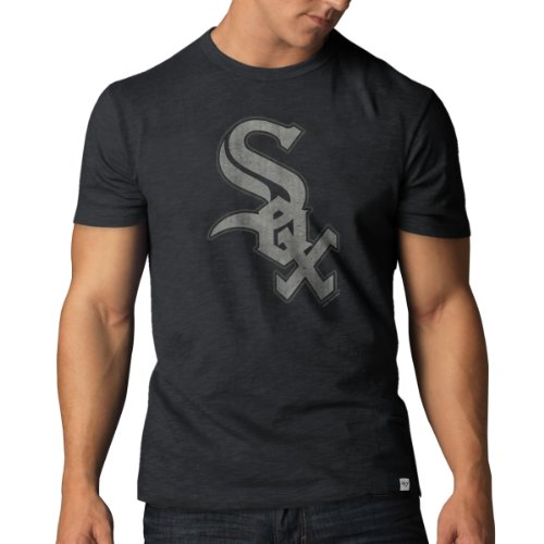 MLB Chicago White Sox Scrum Tee, Charcoal, (Chicago Sox T-shirt)
