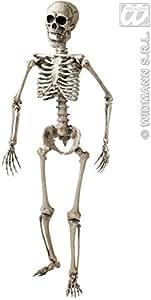 Widmann 7800t–Esqueleto posabile, altura 160cm, para decoración fiesta Halloween