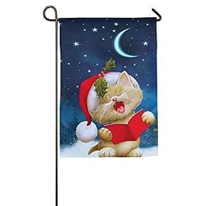 Navidad gato bandera de Jardín Casa Decoración Patio Banderas para vacaciones Fiesta Decoración de la casa al aire libre