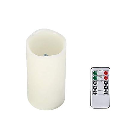 Mobestech Velas sin llama Proyector de luz LED con control remoto ...