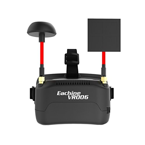 Eachine VR006 Mini FPV Goggles Headset VR-006 3inch 500300 Display 5.8G 40CH Build in 3.7V 500mAh Battery for RC Racing Drone Quadcopters by Crazepony by Crazepony