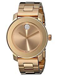 Movado Women's Bold 3600104 Gold Stainless-Steel Swiss Quartz Watch