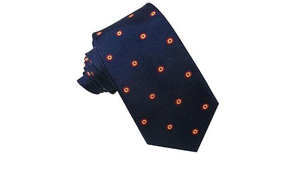 JOSVIL Corbatas de España con la bandera de españa. Corbata Seda Marino Escarapela. Corbata de seda para hombre elegante y de gran calidad.: Amazon.es: Ropa y accesorios
