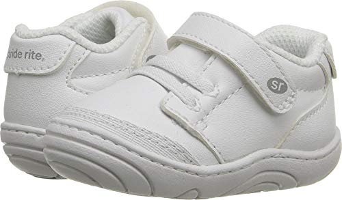 (Stride Rite Unisex Taye (Infant/Toddler) White Synthetic 5 M US Toddler)