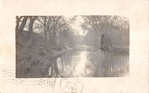 Real Photo Fisherman in Sac City Iowa Postmarked Antique Postcard L1233