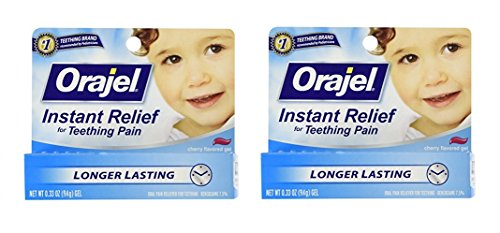 Baby Orajel Instant Relief for Teething Pain, Cherry Flavored 0.33 oz ( Pack of - Instant Pain Relief Orajel