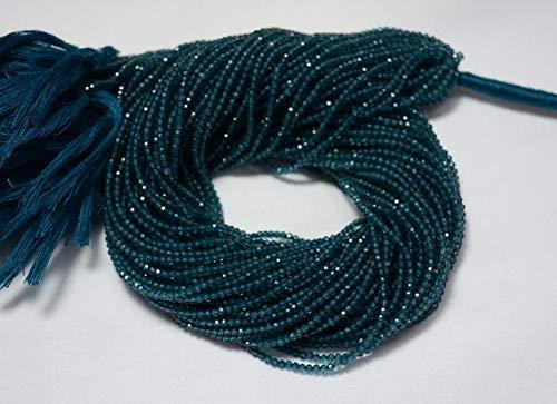 (GemAbyss Beads Gemstone 5 Strands, London Blue Topaz Color Coated Topaz Bead, Blue Topaz Faceted Rondelle Beads, Gemstone Beads, 2.20 mm Beads, 13.5 Inch Strand Code-MVG-24932)