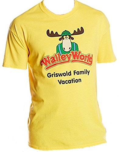 National Lampoon's Clark Griswold Family Vacation Walley World Yellow T Shirt (Medium)