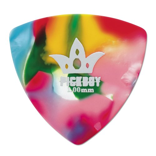 Pickboy Rounded Triangle, Multi-color, Pik Pak, 1.00mm, 10 (Celluloid Rounded Triangle)