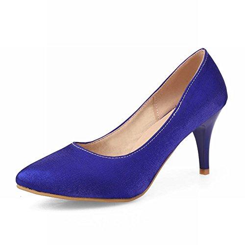 Carolbar Womens Sexy Pointed Toe Fashion Party High Stiletto Heel Dress Pumps Shoes Blue Olz47j
