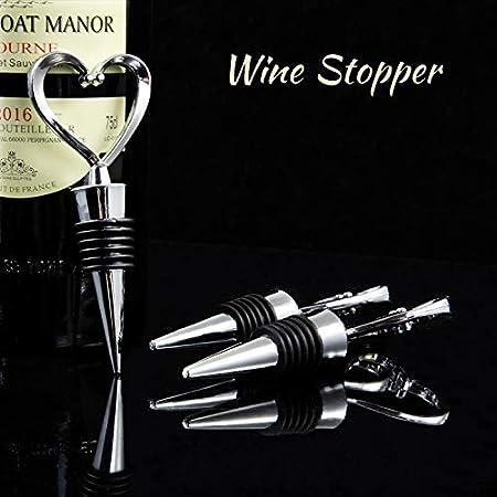 HANGOU Tapón de Vino 3 PCS Botella de Vino en Forma de Corazón Tapón de Botella de Vino de Corcho Tapones de Champán Reutilizables para Mantener el Vino Fresco para Bodas, Familias y Bares
