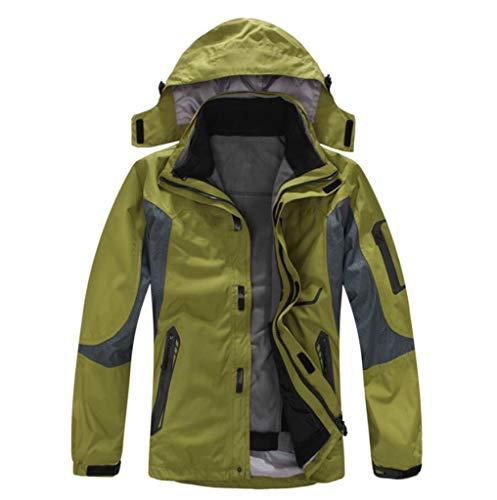 Waterproof Green Fleece Liner Windproof Jacket Detachable Outdoor Men's Jacket OgxHOZ
