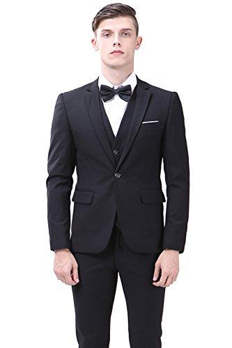 TALITARE Men's One Button Slim Fit 3-Piece Suit Party Blazer Business Vest Casual Pants