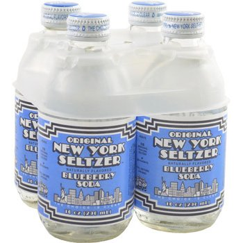 New York Seltzer Blueberry Soda 10 oz (Pack of 8)