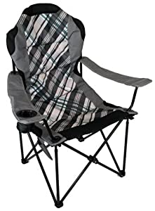 Amazon Com High Back Folding Camp Chair Padded Amp Drink