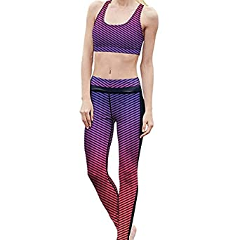 21246c197 Mad Ink Women s Pro Workout Running Yoga clothes set Top   leggings pattern  Tights Girls Stretchy