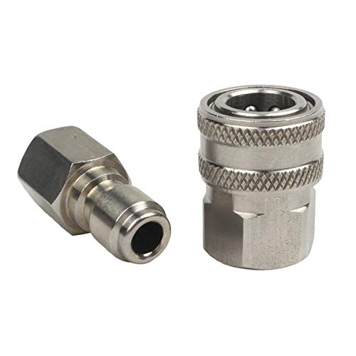 3//8in Quick Connect Fitting Pressure Washer Adapter Set,Stainless Steel /""