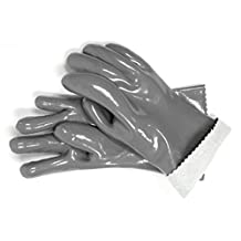 "Steven Raichlen Best of Barbecue Insulated Food Gloves (Pair) / 12.6"" Length - SR8037 - Durable and Reusable - Safely Handle Hot Food from Grill or Kitchen"