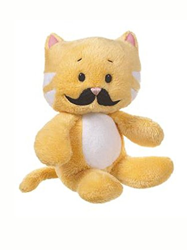 Yellow Moustache Cat Stuffed Plush Doll by Ganz from Ganz