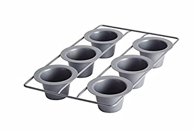 Fox Run Nonstick 6 Cup Linking Popover Muffin Pan Baking Bakeware Breakfast New
