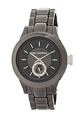 Karl Lagerfeld Unisex Karl Chain Watch, Gunmetal