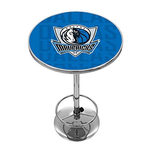 Trademark Gameroom NBA2000-DM3 NBA Chrome Pub Table - City - Dallas Mavericks