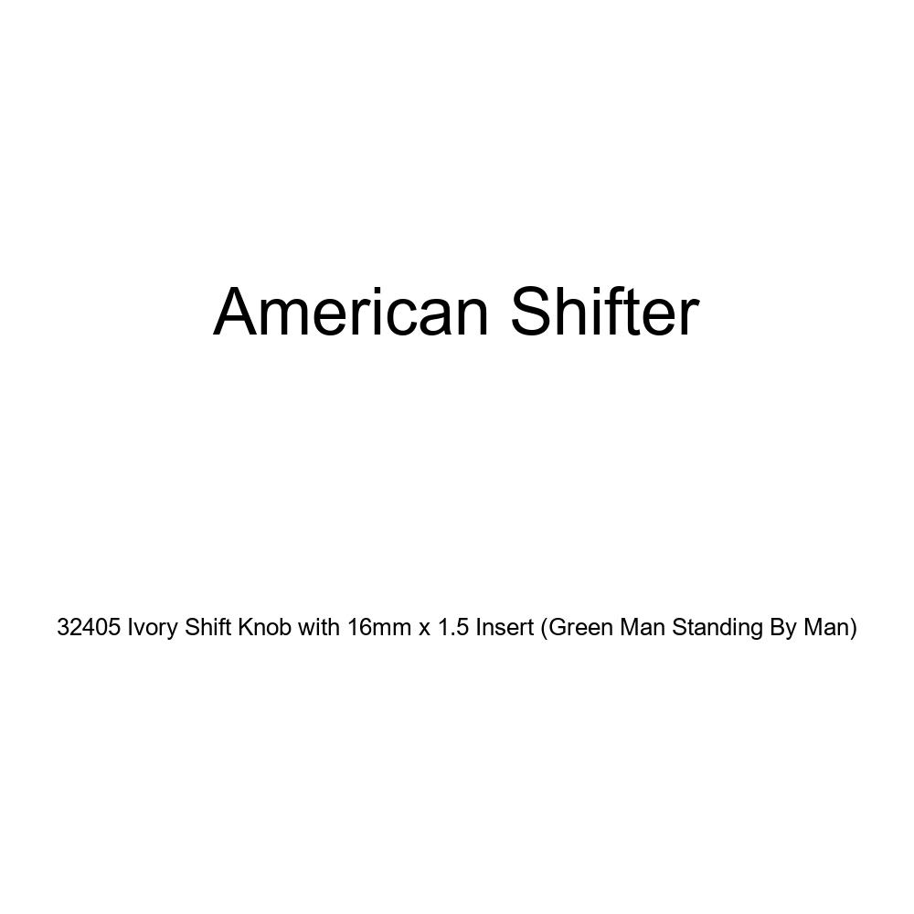 American Shifter 32405 Ivory Shift Knob with 16mm x 1.5 Insert Green Man Standing by Man