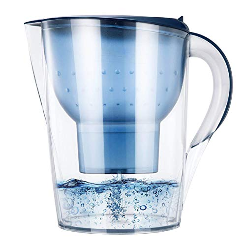Faucet 2 Stage Filter 3375 (XHHWZB The Alkaline Water Pitcher - 3.5 liters, 2 Filters Included, 7 Stage Filteration System to Purify and Increase PH Levels)