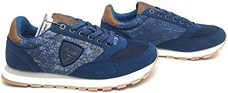 AUSTRALIAN Sneakers cod. AU848 col.Navy Silver in Tela E CAMOSCIO