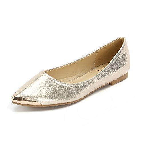Alexis Leroy 2015 Hot Sale New Arrival Spring Womens'Buckle Design Fashion Flats Shoes Gold 37 M EU / 6-6.5 B(M) US
