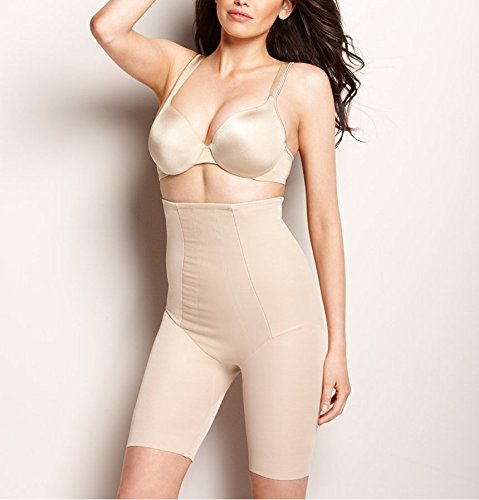 Long Leg Shapewear (Miraclesuit Extra Firm Control High-Waist Thigh Slimmer, L, Nude)