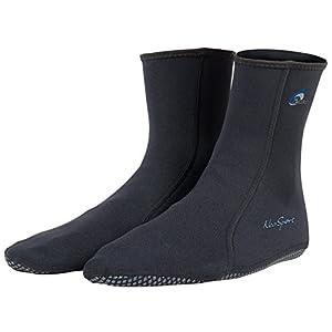 NeoSport Wetsuits Premium Neoprene 2mm Neoprene Water Sock, Black, Size 9