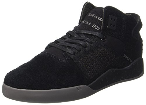Charcoal II Supra Black Skate Stacks Shoe Black HYxqUzx