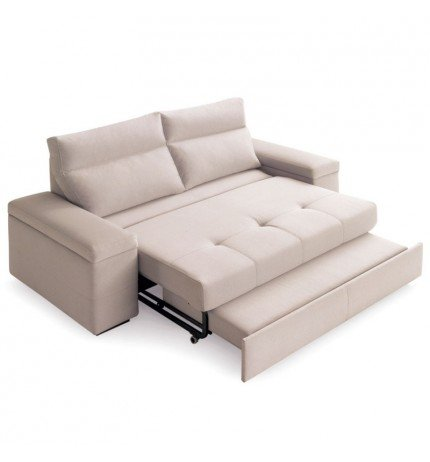 SHIITO Sofá Tres plazas con Cama de 150x190cm tapizado en ...