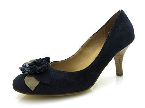 Tamaris - Botas de cuero para mujer azul - azul marino